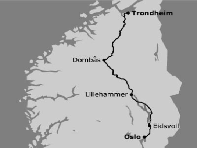 kart oslo trondheim Kart Oslo Trondheim | Kart